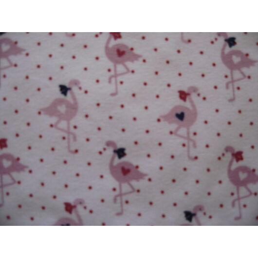 rövid fehér pöttyös flamingós cicanadrág
